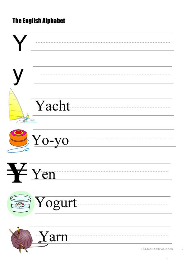 The Alphabet - Letter Y