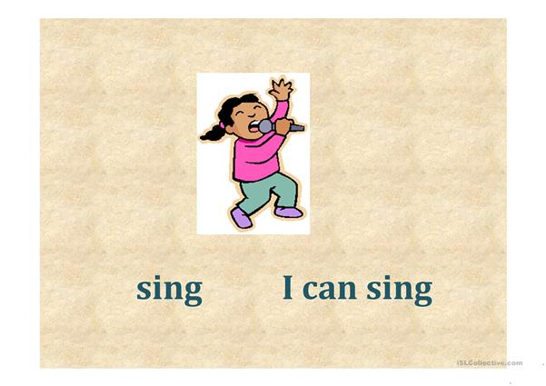 The verb Can for kids