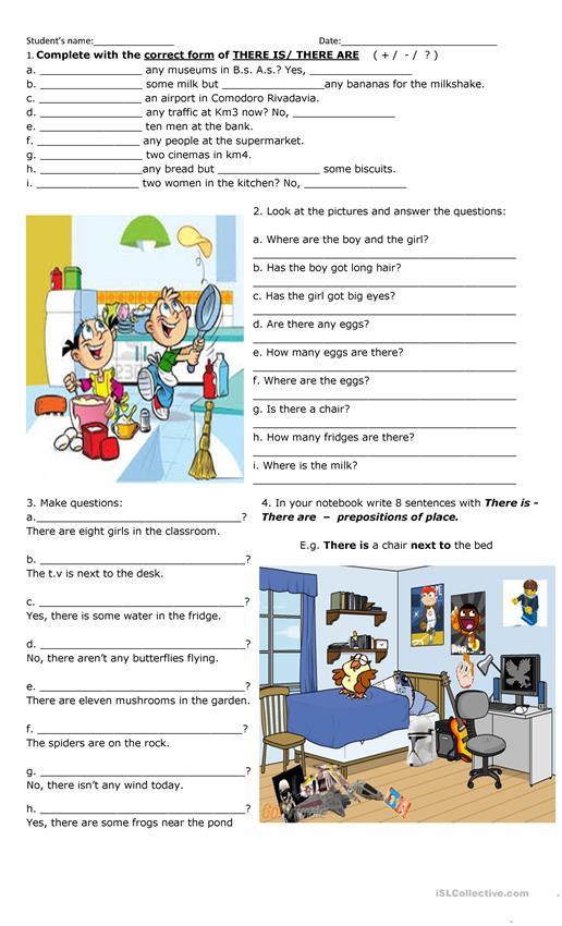 There is/are + prepositions
