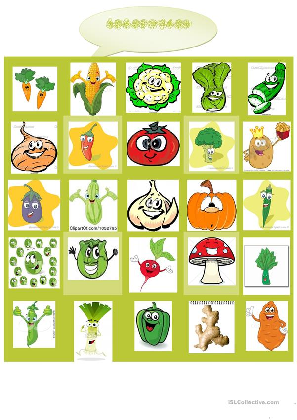 VEGETABLES (exercise)