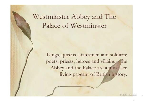 Westminster Abbey and the Palace of Westminster