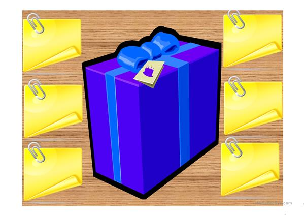 What's in the Box? Vocabulary game