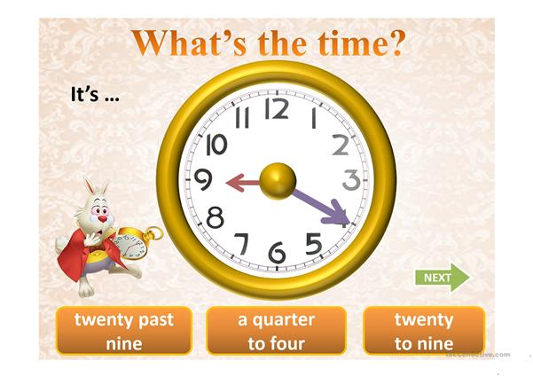 WHAT'S THE TIME? PPT