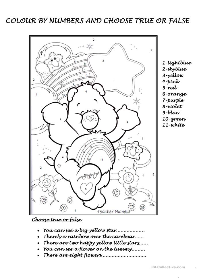 Colour By Number Esl : Spring colouring pages for kids