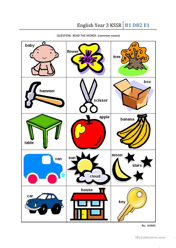 English Year 3 KSSR Worksheet Free ESL Printable