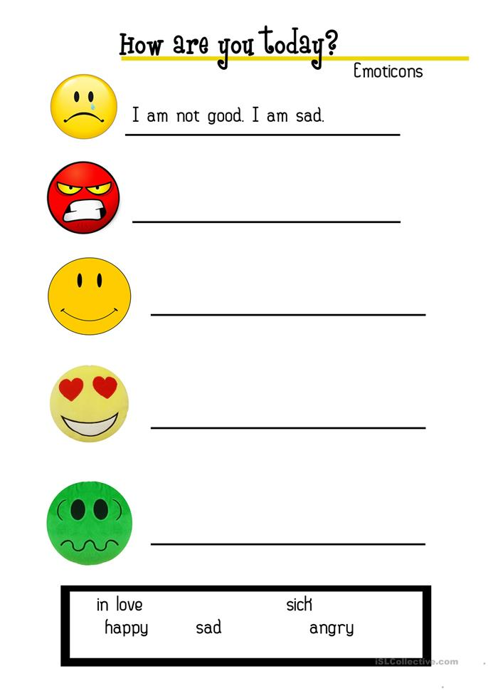 How are you today? - ESL worksheets