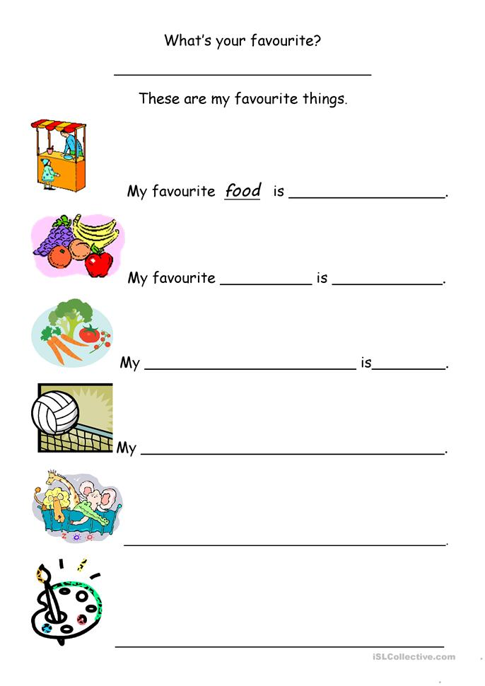 my favourite things worksheet free esl printable worksheets made by teachers. Black Bedroom Furniture Sets. Home Design Ideas