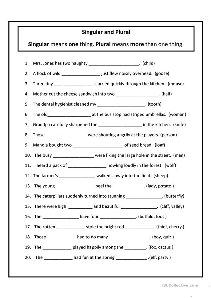 Plural Nouns Worksheets | Have Fun Teaching