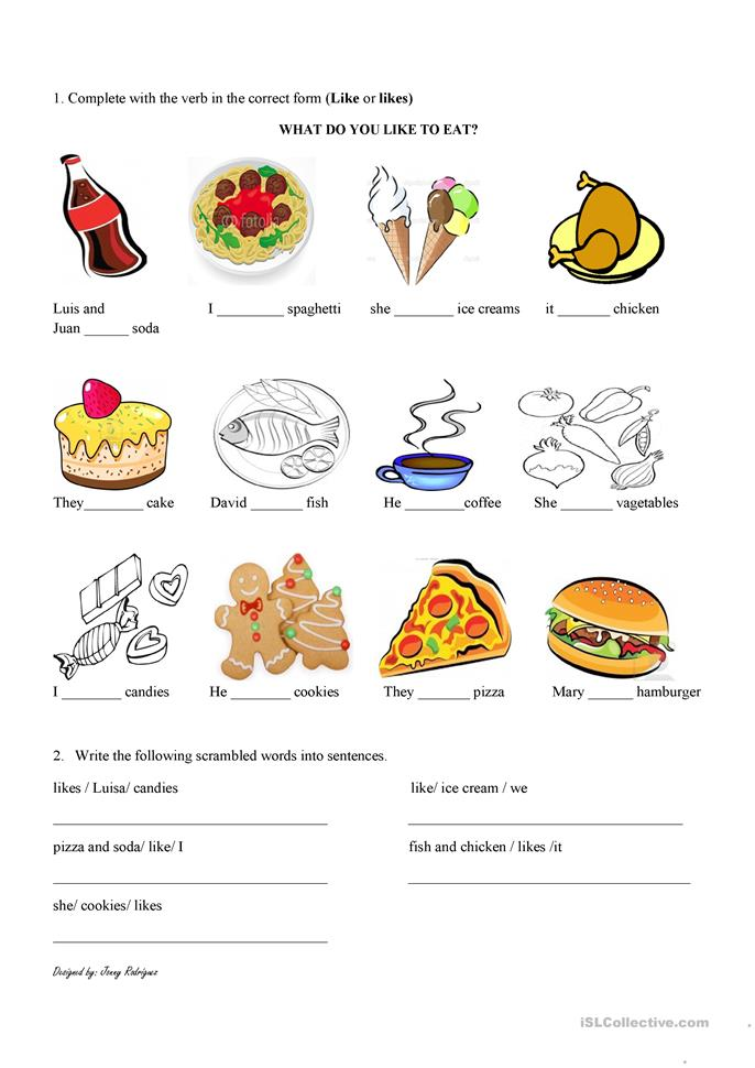WHAT DO YOU LIKE TO EAT? worksheet - Free ESL printable ...