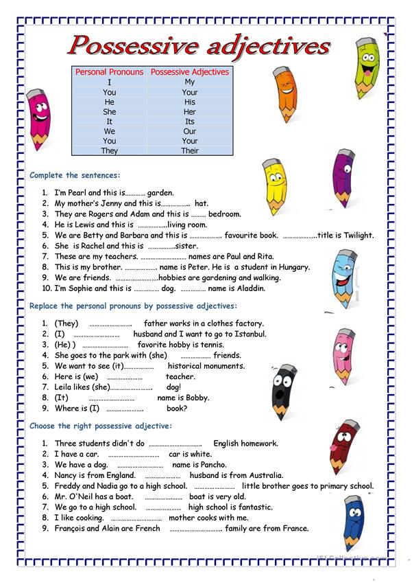 It is a graphic of Exhilarating Adjectives Printable Worksheets