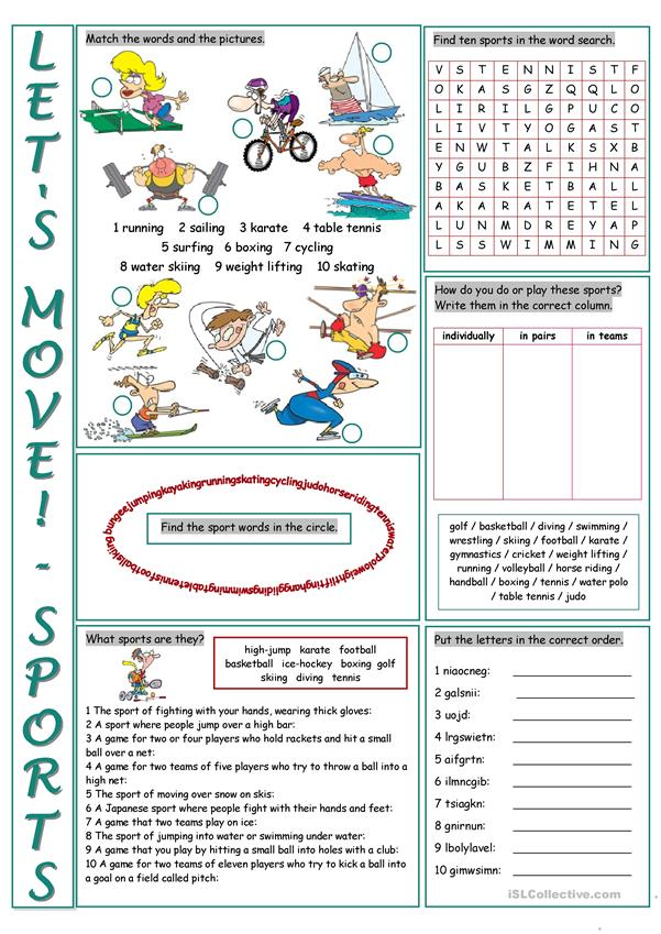 sports vocabulary exercises worksheet free esl printable. Black Bedroom Furniture Sets. Home Design Ideas