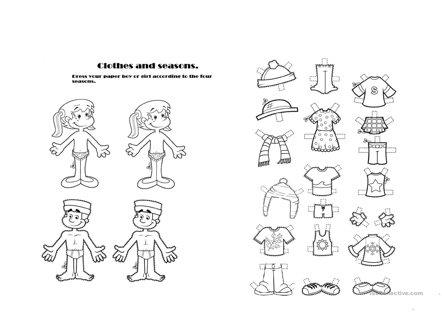 Clothes And Seasons Worksheet