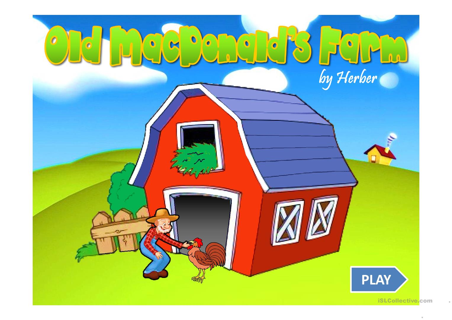 farm animals game ppt worksheet free esl projectable