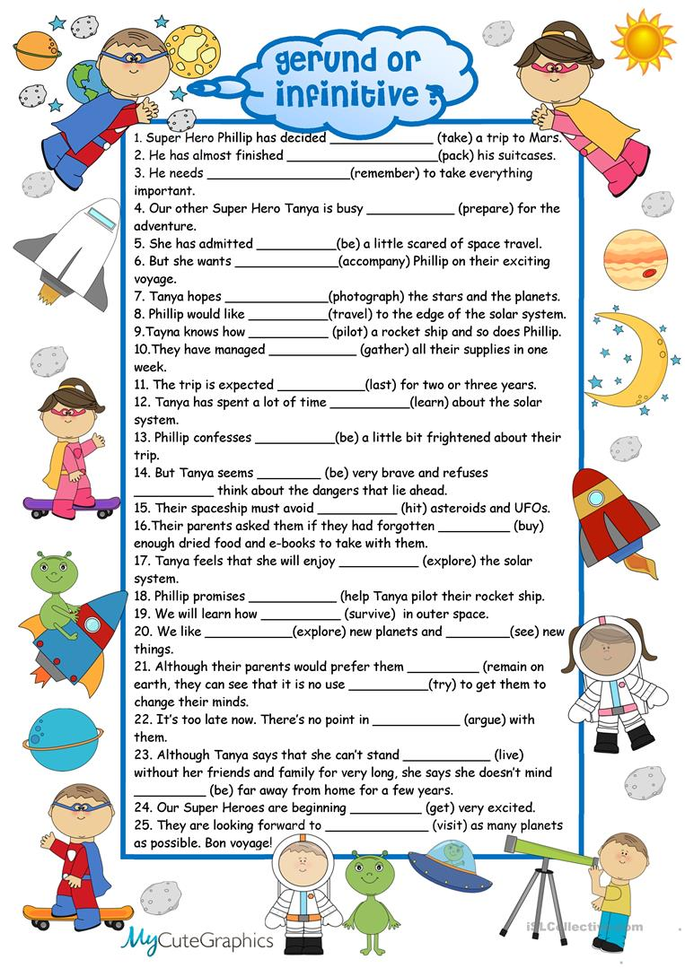Worksheets Gerunds Worksheet 102 free esl gerunds worksheets and infinitives with key