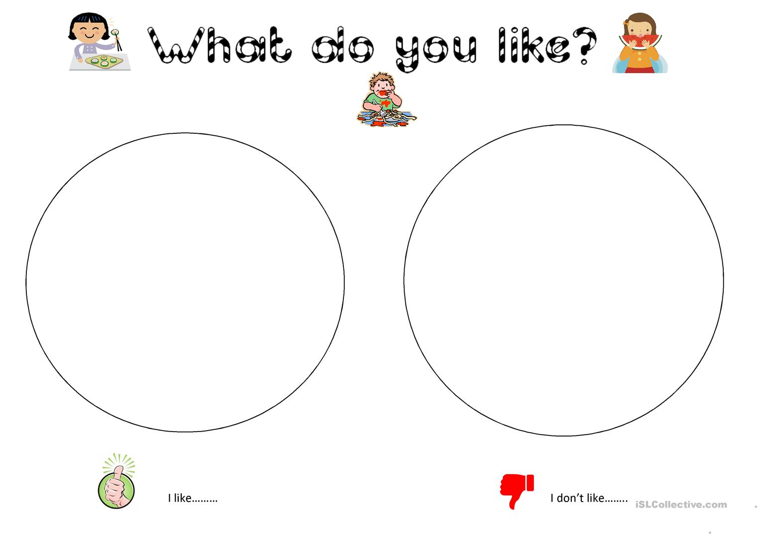 I Dont Like Colouring For Young Learners Worksheet Free Esl