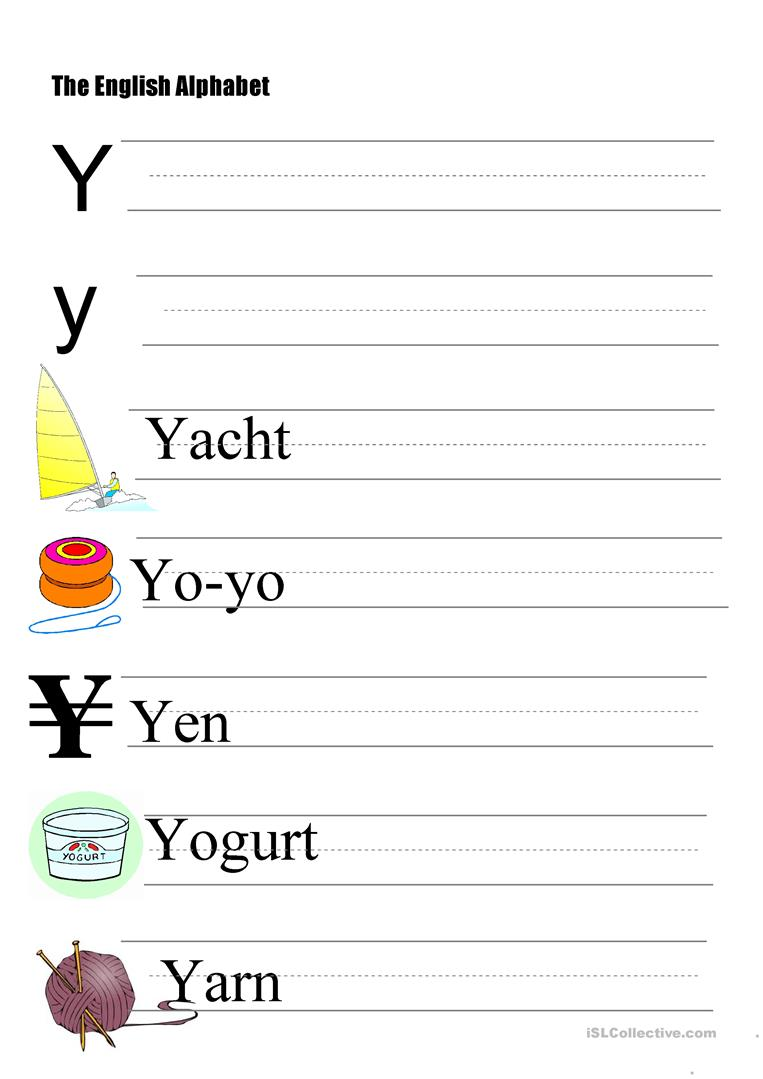 the alphabet letter y worksheet free esl printable worksheets made by teachers. Black Bedroom Furniture Sets. Home Design Ideas