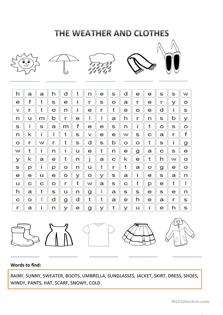 the weather and clothes worksheet free esl printable worksheets made by teachers. Black Bedroom Furniture Sets. Home Design Ideas