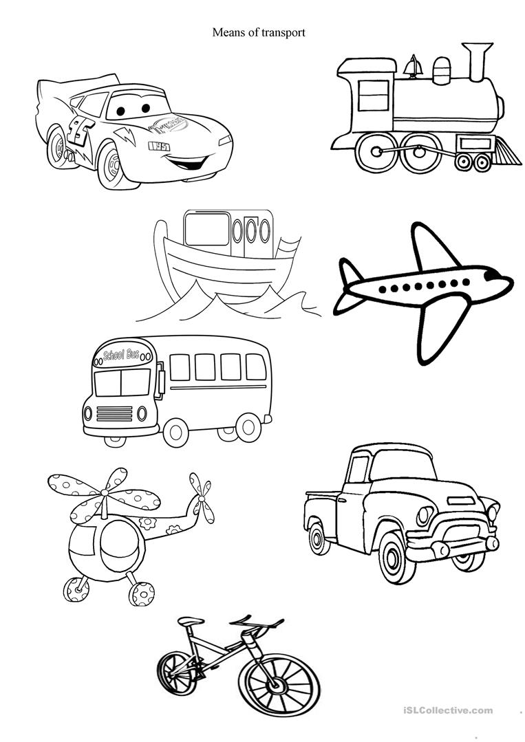different transportation coloring pages - photo#14