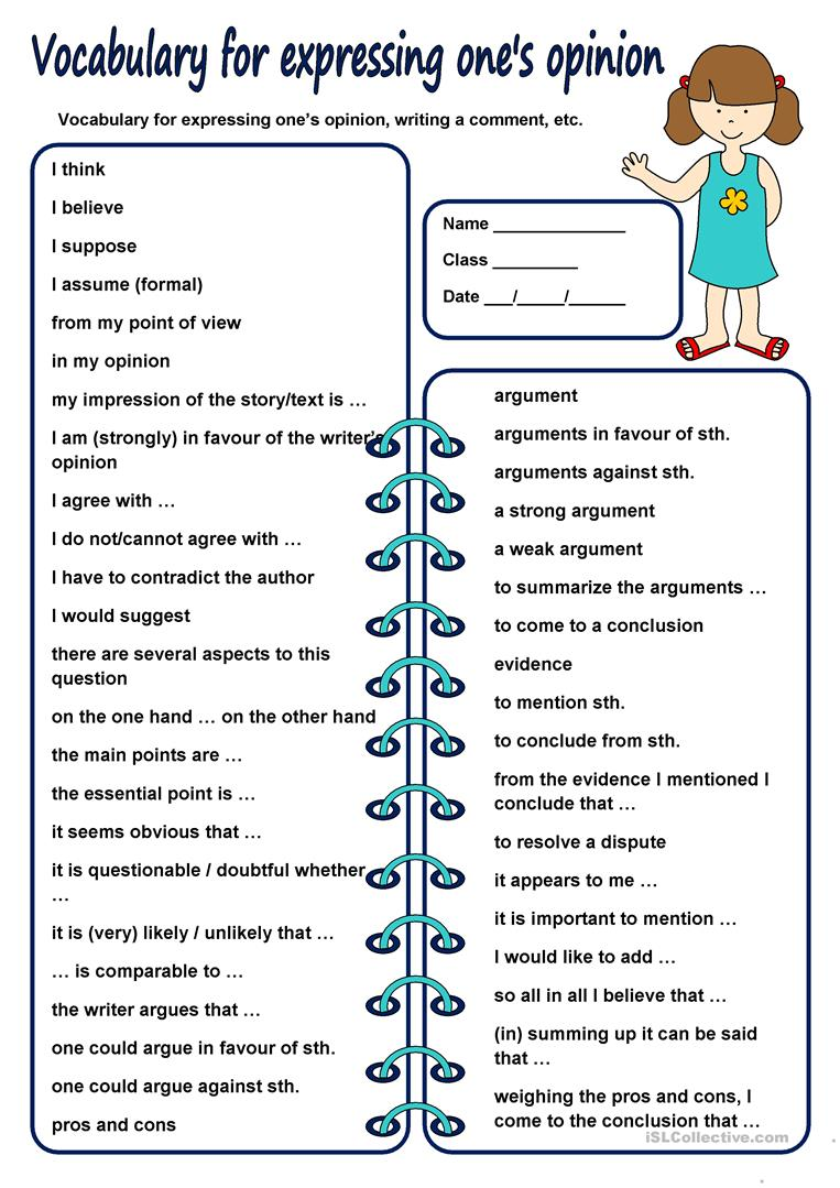Worksheets Worksheet-asking-and-giving-opinion 19 free esl expressing opinion worksheets vocabulary for ones opinion