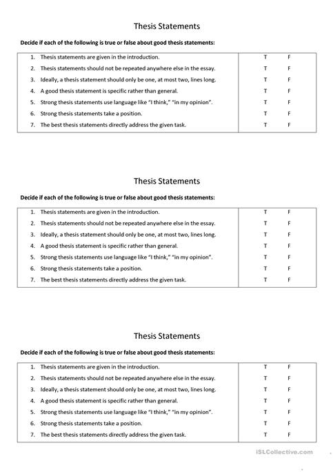 esl thesis statement The writing center thesis statements what this handout is about this handout describes what a thesis statement is, how thesis statements work in your writing.