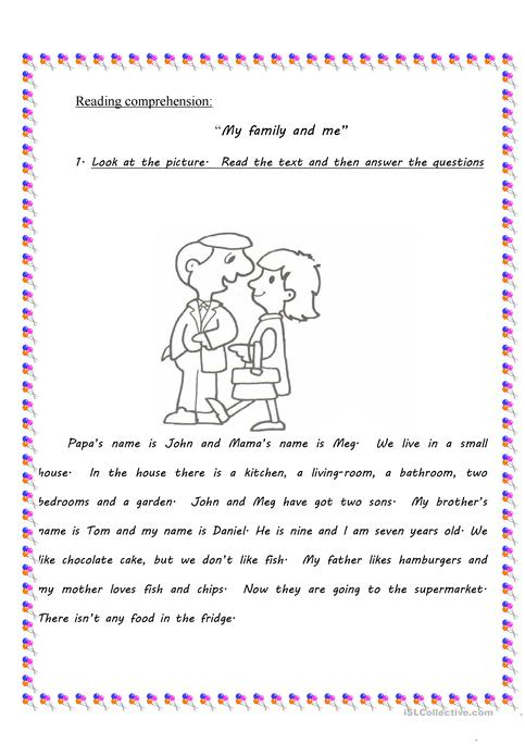My Family And Me Worksheet Free Esl Printable Worksheets Made By