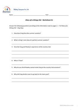 11 free esl wimpy kid worksheets diary of a wimpy kid dog days solutioingenieria Choice Image