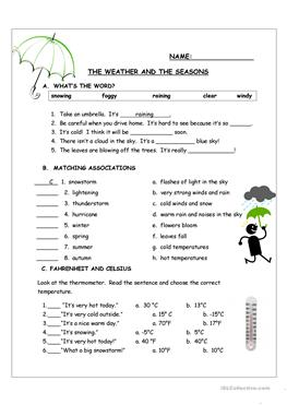 English Esl Weather And Seasons Worksheets Most Downloaded 38 Results