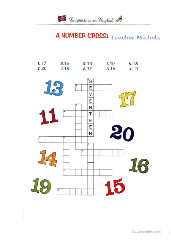 A number crossword
