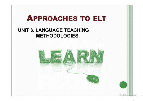 Approaches to ELT