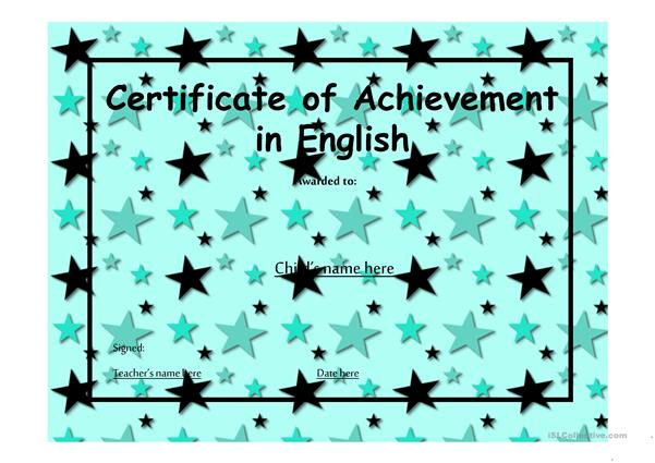 Certificate of Achievement 14