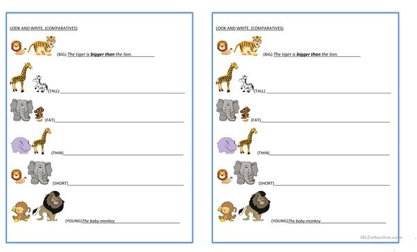 Comparatives animals