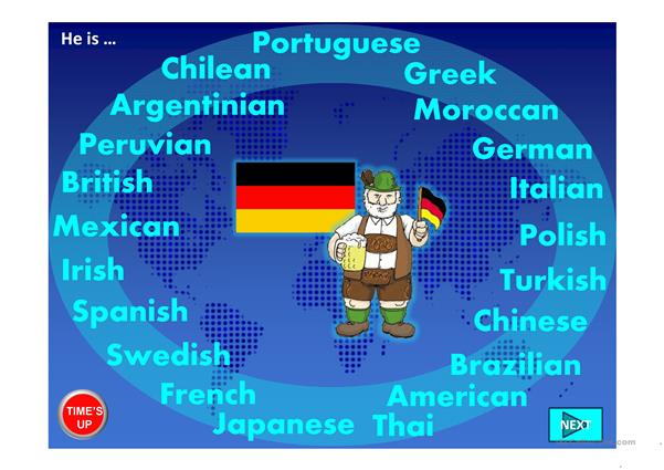 COUNTRIES GAME PPT