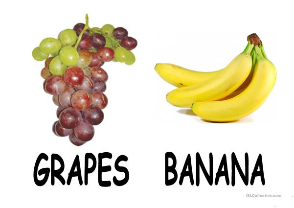 flash cards fruit
