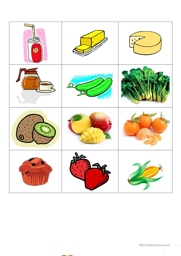 healthy and junk food - English ESL Worksheets