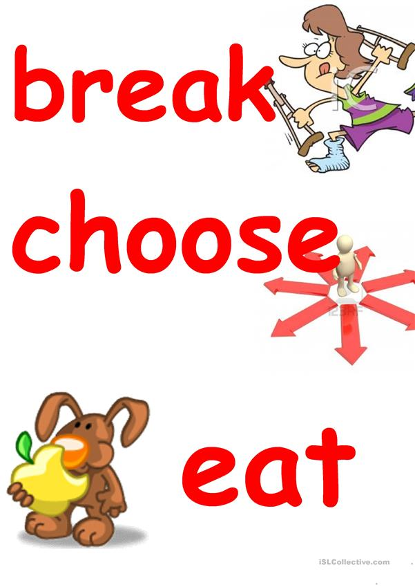 irregular verbs FLASHCARDS 3 group