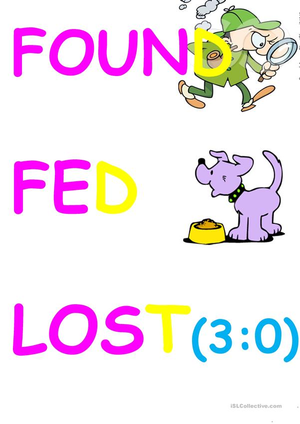 IRREGULAR VERBS FLASHCARDS 6 GROUP