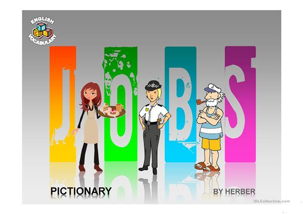 JOBS PICTIONARY PPT