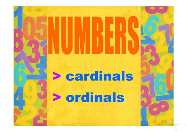 NUMBERS PPT