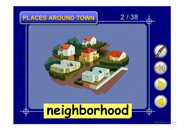 PLACES AROUND TOWN PPT