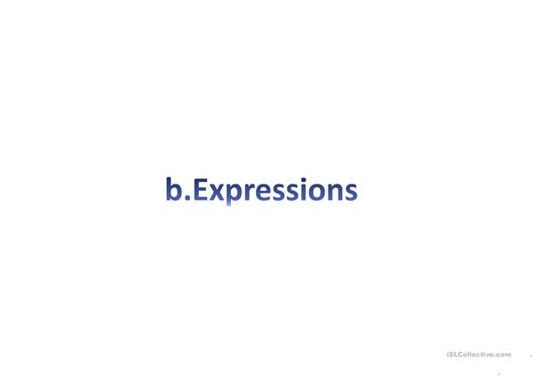 ppt for introductory vocab and expressions