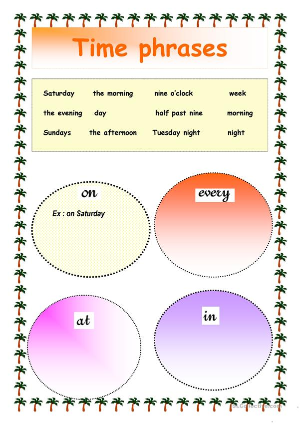 preposition with time phrases