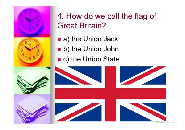 QUIZ ABOUT BRITAIN