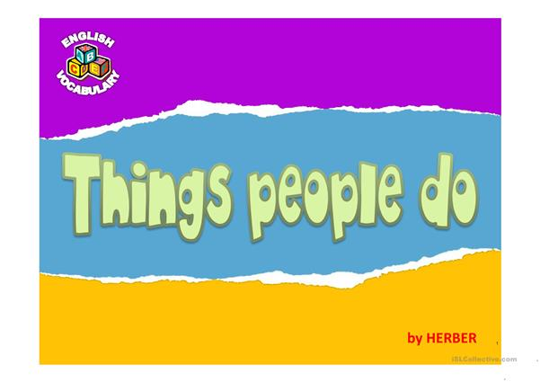 THINGS PEOPLE DO PPT