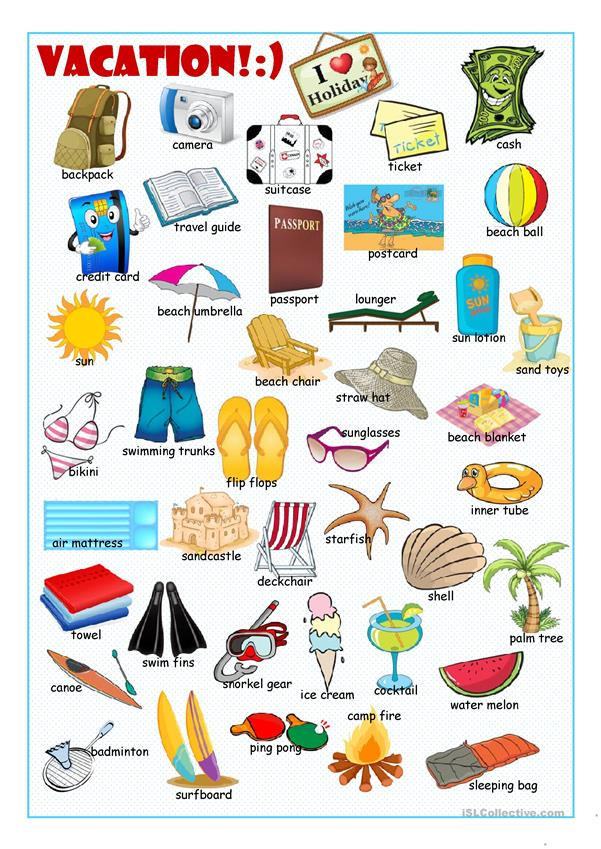 Vacation Picture Dictionary#2