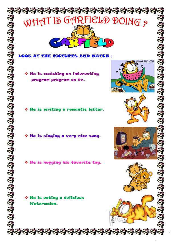 What is Garfield doing ?