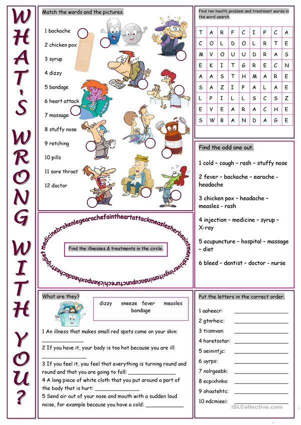 What's Wrong with You? (Vocabulary Exercises)