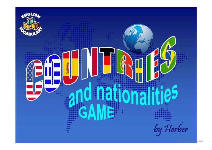 COUNTRIES GAME PPT - ESL powerpoints