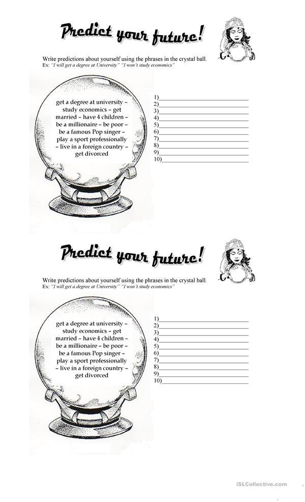 11 FREE ESL how to make predictions in English worksheets