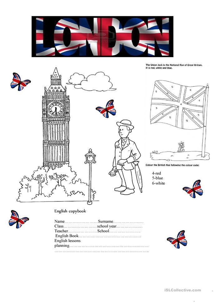 English cover for copybook worksheet - Free ESL printable worksheets made by teachers