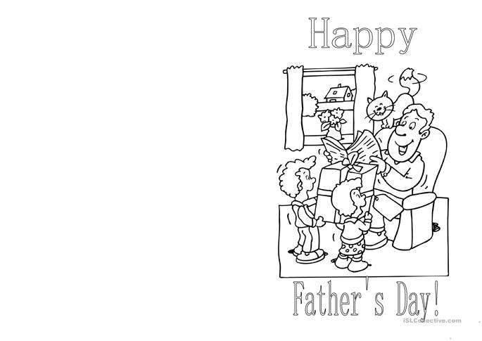 Father's Day Card - ESL worksheets